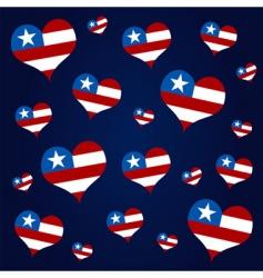 American hearts vector image