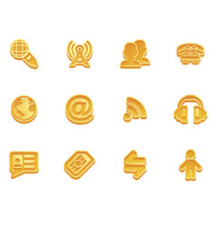 communication icon set vector image vector image