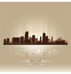 Miami Florida skyline city silhouette vector image vector image
