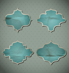 Blue Crumpled Frames vector image vector image