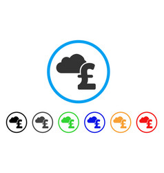 cloud pound banking rounded icon vector image vector image