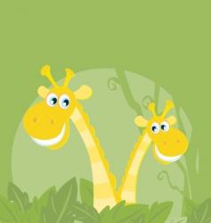 funny animals jungle giraffe family vector image vector image