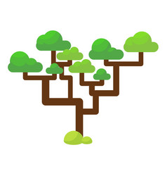 green savannah tree flat vector image