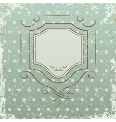 Grunge retro background with frame vector image