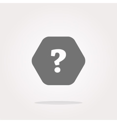 Icon on the clouds with questions mark sign vector image vector image