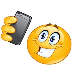selfie emoticon vector image