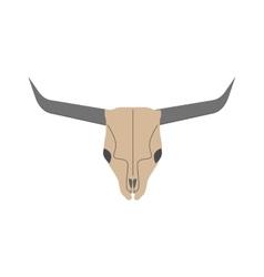 Animal head skull of wild bull flat vector image