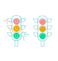 icon traffic light vector image vector image