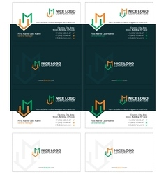 m house business card 2 vector image vector image