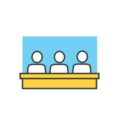 Students in Classroom Icon vector image vector image