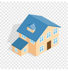 two storey house with annexe isometric icon vector image