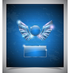 Abstraction blue background with wings vector image vector image