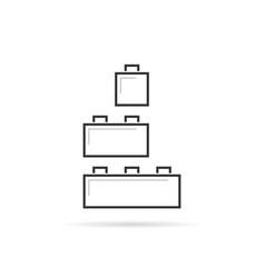 black thin line building toy logo vector image