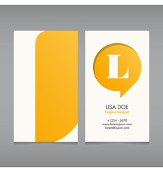 Business card template letter L vector image vector image