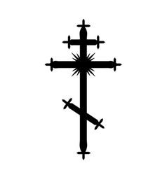 the greek-catholic orthodox cross vector image