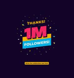 1m followers social media story post background vector