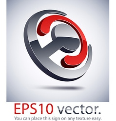 3D modern joint logo icon vector