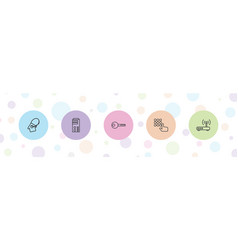 5 access icons vector