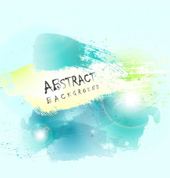 abstract green blue water color splash background vector image