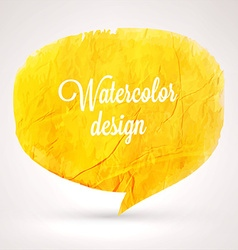 Abstract Watercolor Speech Bubble Design vector