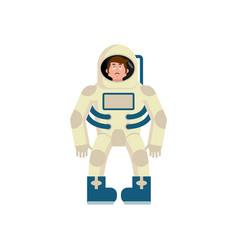 astronaut sad emoji cosmonaut sorrowful emotion vector image