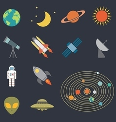 Astronomy icon vector