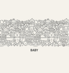baby banner concept vector image