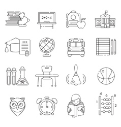 Basic education line icon set vector