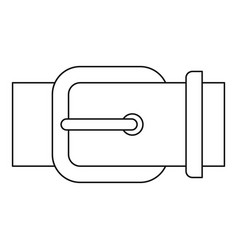 belt buckle icon outline style vector image