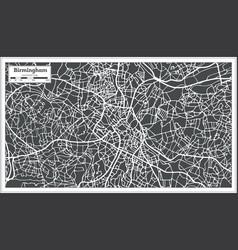 Birmingham uk city map in retro style vector