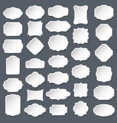 blank frame and label mega set vector image