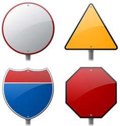 Blank highway signs vector
