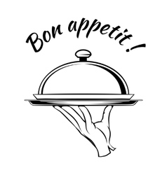 Bon appetit delicious dish element vector