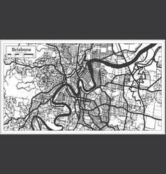 Brisbane australia city map in black and white vector