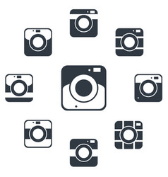 camera icons or symbol on white background camera vector image