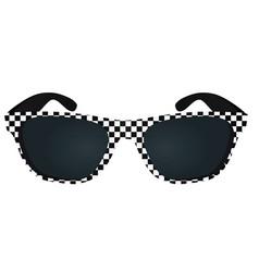Checkered black sunglasses vector