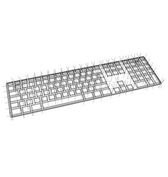 computer keyboard outline vector image
