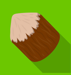 Conical log canada single icon in flat style vector