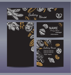 Corporate style - bakery background sketch vector