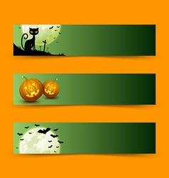 creepy halloween banners vector image