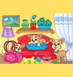 cute dog theme image 2 vector image