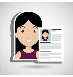 cv resume woman icon vector image
