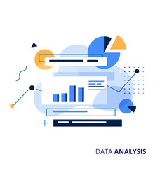 Data analysys business vector