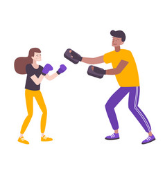 Defense boxing training composition vector