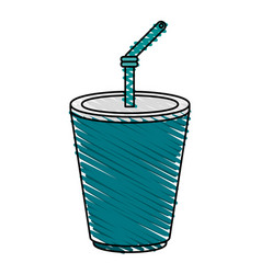Delicious soda cup icon imag vector