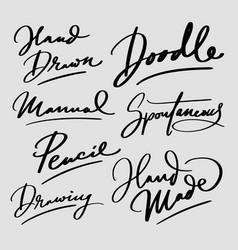 doodle hand written typography vector image