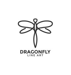 dragonfly graphic design template vector image