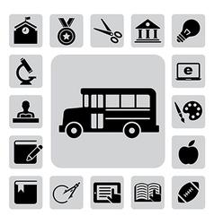 Education icons set eps 10 vector image