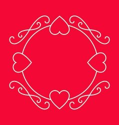 Elegant frame for love wishes Valentines day vector