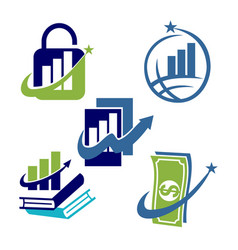 Financial accounting consulting business logo icon vector